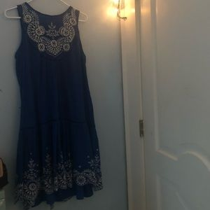 Anthropologie blue dress